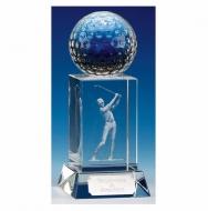 Mercury Golfer Optical Crystal Clear 6 Inch