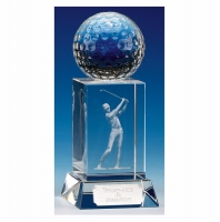 Mercury Golfer Optical Crystal Clear 6 Inch