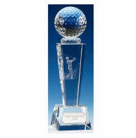 Unite Male Golfer Optical Crystal Optical Crystal 8 1/2 Inch