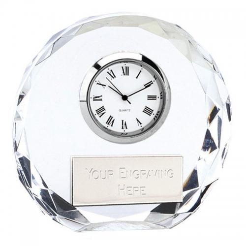 Era Glass Clock Clear 3.25 Inch
