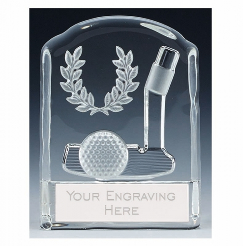 Precision Golf Trophy Award Putter Glass - Clear - 4 3/8 (11cm) - New 2018