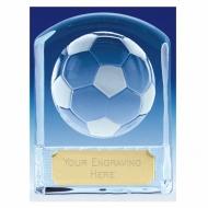 Precision Cast Glass Football Trophy Award - Clear - 4 3/8 (11cm) - New 2018