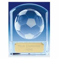 Precision Cast Glass Football Trophy Award - Clear - 4 3/8 (11cm)- New 2018