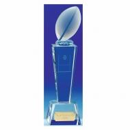 UNITE Rugby Trophy Award Crystal - Clear - 8.5 Inch (21.5cm) - New 2018