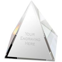 Pyramid Crystal - Clear - 2.75 inch (7cm)- New 2018