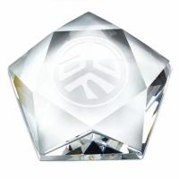 Pentagon Crystal - Clear - 3.25 (8cm) - New 2018