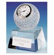 Dublin Crystal Clock - Clear - 3.75 (10cm) - New 2018