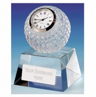 Dublin Crystal Clock - Clear - 3.75 (10cm) - New 2018