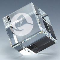 Floating Crystal Cube 2 3/8 x 2 3/8 Inch (6cm x 6cm) : New 2020