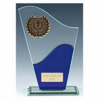 Trek Blue Glass Trophy Award