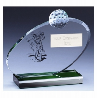 Horizon Golf Trophy Award Glass - Clear - `6 inch (15cm) - New 2018