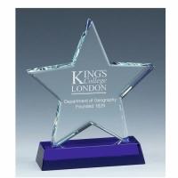 Sapphire Star Glass Award 6 Inch (15cm) - 18mm Thickness : New 2020