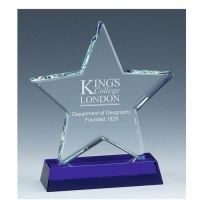 Sapphire Star Glass Award 7 Inch (18cm) - 18mm Thickness : New 2020