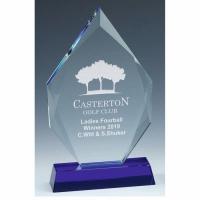 Sapphire Peak Glass Award 7.25 Inch (18.5cm) - 18mm Thickness : New 2020