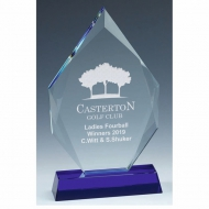 Sapphire Peak Glass Award 9 Inch (23cm) - 18mm Thickness : New 2020