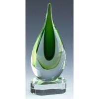 Turner Green Art Glass Award 9 Inch (23cm) : New 2020