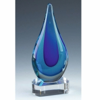 Turner Blue Art Glass Award 9 Inch (23cm) : New 2020
