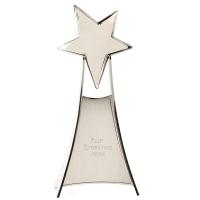 Rising Silver Star Silver 10.5 Inch