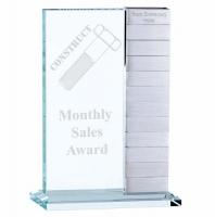 Crystal & Silver Annual Clear/Silver 10 Inch