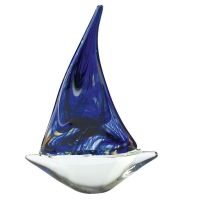 Dionysus Art Glass Clear/Red/Blue/Black 18.5cm