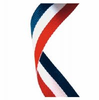 Medal Ribbon Red White & Blue Red/White/Blue 7/8 x 32 Inch