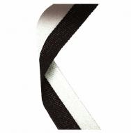 Medal Ribbon Black & White Black/White 7/8 x 32 Inch