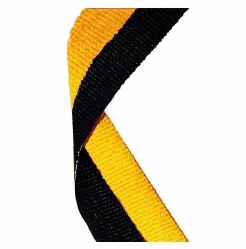 Medal Ribbon Black & Gold Black/Gold 7/8 x 32 Inch