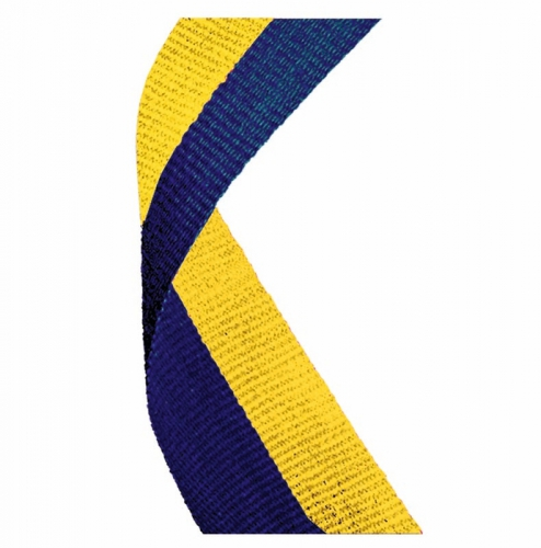 Medal Ribbon Blue & Yellow Blue/Yellow 7/8 x 32 Inch