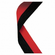 Medal Ribbon Black & Red Black / Red 7 / 8 x 32 Inch