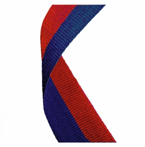 Medal Ribbon Red & Blue Red/Blue 7/8 x 32 Inch