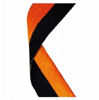 Medal Ribbon Black & Orange Black/Orange 7/8 x 32 Inch