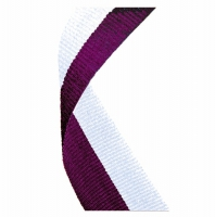 Medal Ribbon Maroon & White Maroon/White 7/8 x 32 Inch