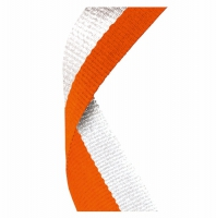 Medal Ribbon Orange & White Orange/White 7/8 x 32 Inch