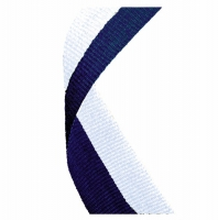 Medal Ribbon Navy Blue & White Navy Blue/White 7/8 x 32 Inch