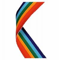 Medal Ribbon Rainbow Rainbow 7/8 x 32 Inch