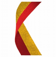 Medal Ribbon Red & Gold Red/Gold 7/8 x 32 Inch