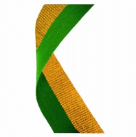 Medal Ribbon Green & Gold Green/Yellow 7/8 x 32 Inch