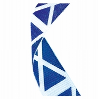 Flag Neck Ribbon Scotland White/Blue 7/8 X 32 Inch