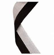 Medal Ribbon Black & Grey Black/Grey 7/8 x 32 Inch