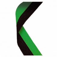 Medal Ribbon Black & Green Black/Green 7/8 x 32 Inch
