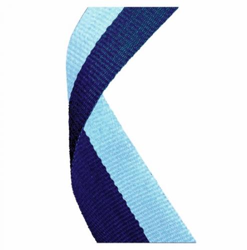 Medal Ribbon Navy & Light Blue Navy/Light Blue 7/8 x 32 Inch