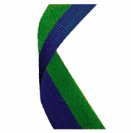Medal Ribbon Blue & Green Blue/Green 7/8 x 32 Inch