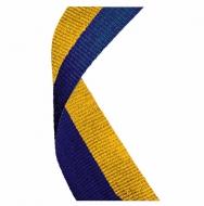 Medal Ribbon Blue & Gold Blue / Gold 7 / 8 x 32 Inch