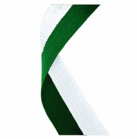 Medal Ribbon Hunter Green & White Hunter Green/White 7/8 x 32 Inch