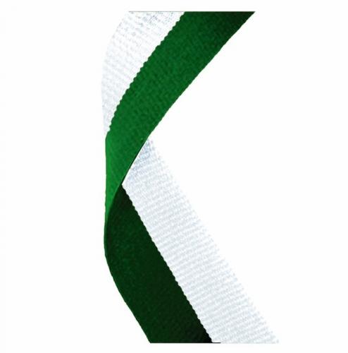Medal Ribbon Hunter Green & White Hunter Green/White 7/8 x 32 Inch