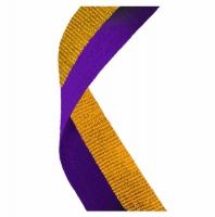 Medal Ribbon Purple & Gold Purple/Gold 7/8 x 32 Inch