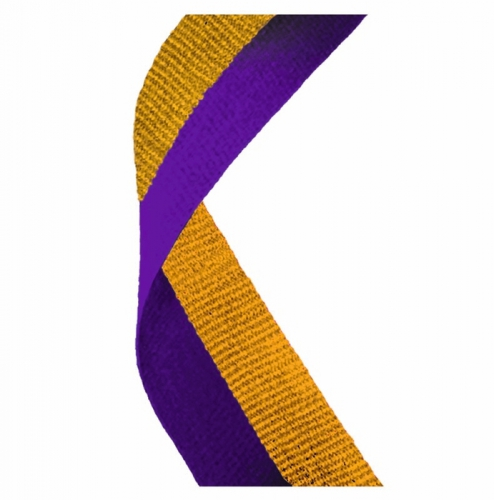 Medal Ribbon Purple & Gold Purple/Gold 7/8 x 32 Inch