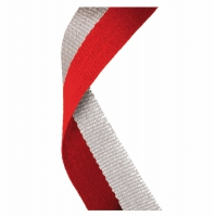 Medal Ribbon Red & Grey Red/Grey 7/8 x 32 Inch