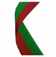 Medal Ribbon Red & Green Red/Green 7/8 x 32 Inch