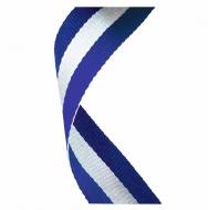 Medal Ribbon Blue White & Blue Blue / White / Blue 7 / 8 x 32 Inch